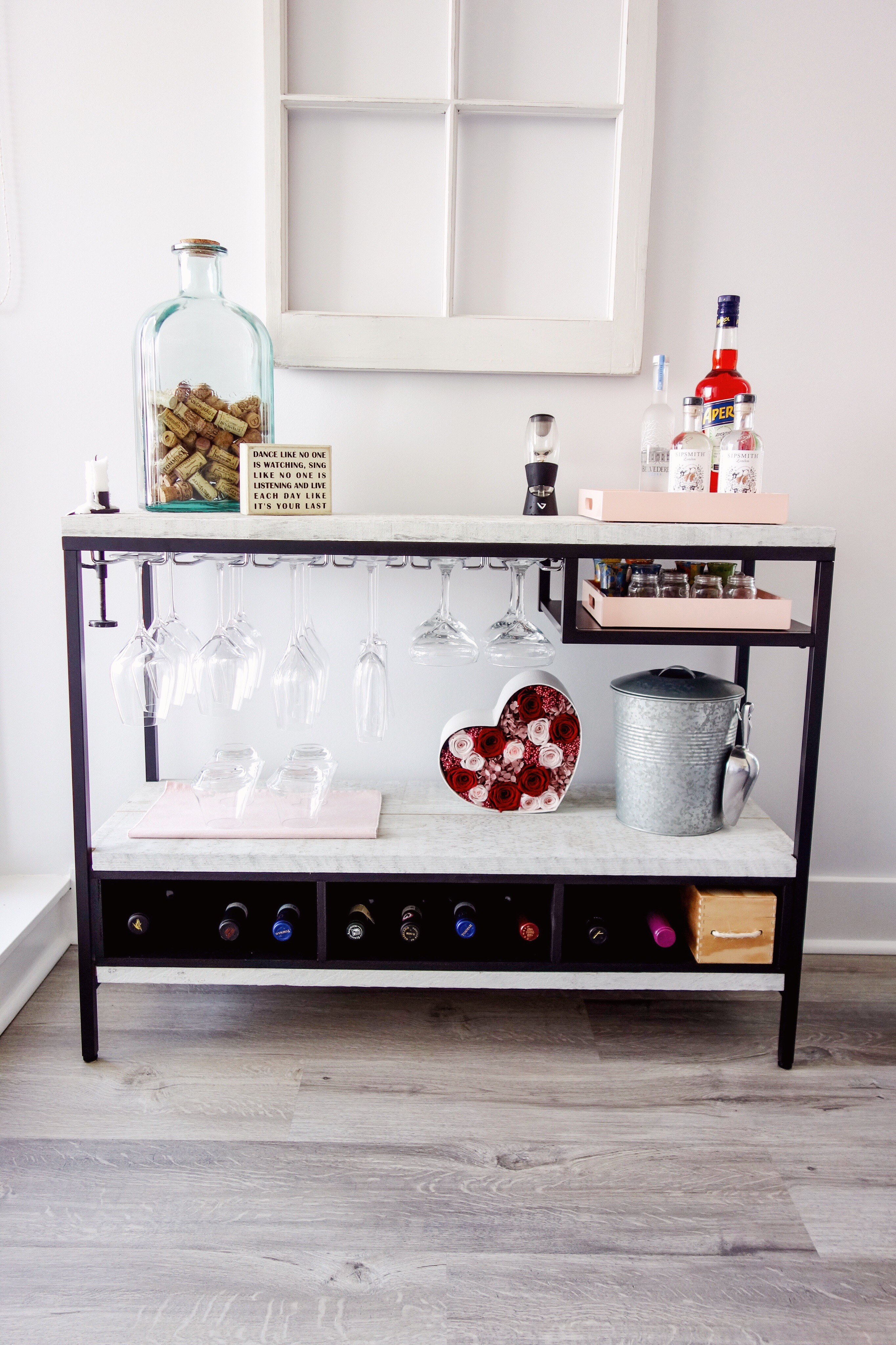 IKEA HACK - BAR - #IKEA #IKEAhack #IKEAbarhack #bar #bar/cart #cart #winecart #winebar