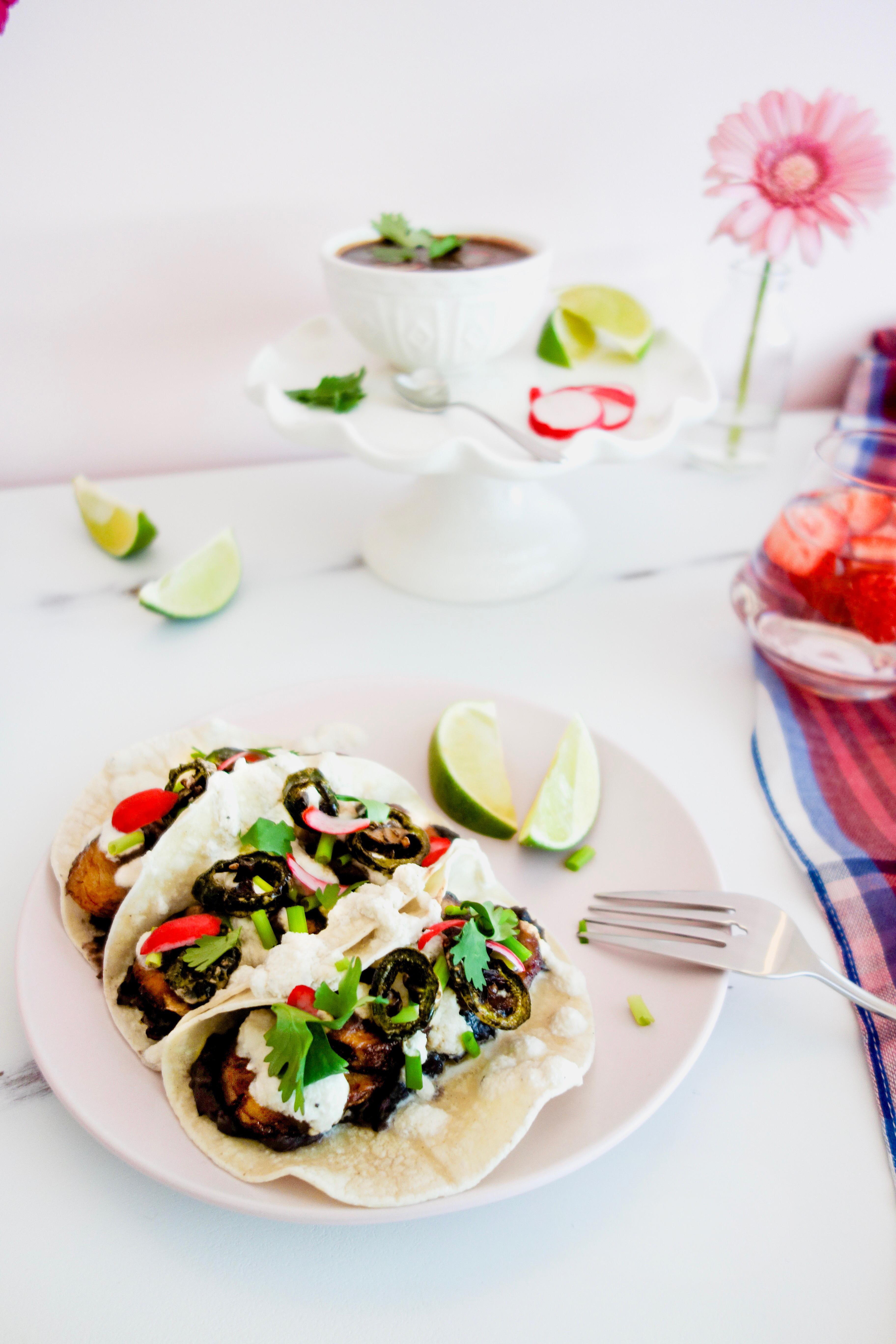 VEGAN PLANTAIN TACOS - #vegan #vegantacos #tacos #easyvegandinner