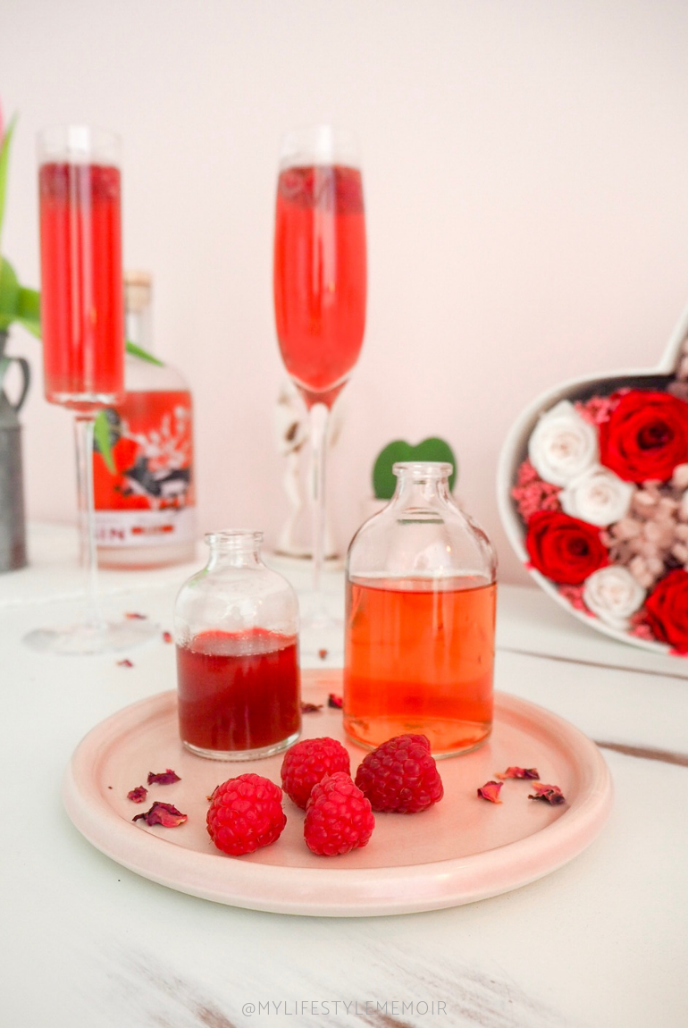 Love at first sip! This Love Potion cocktail is a great mix of everything sweet and bubbly. This cocktail is the perfect for drink for any celebration. #cocktails, #valentinesday